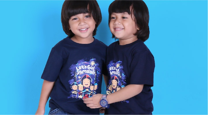 Kaos Anak Muslim Pesan Dakwah Kreatif